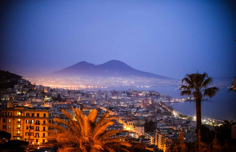 Panorama da Villa Marinella a Napoli